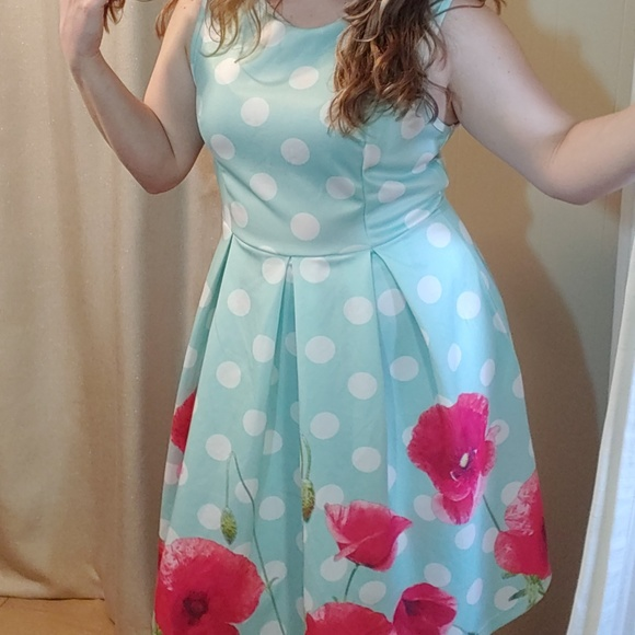 lily by firmiana Dresses & Skirts - polka dot vintage style pouf dress